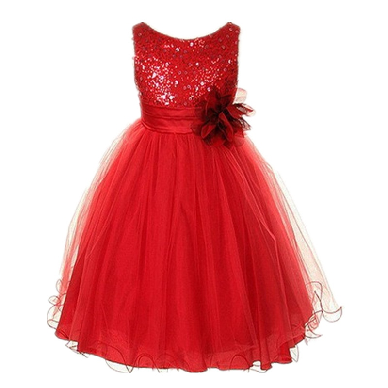 Vogue Toddler Baby Girl Princess Dress Sleeveless Sequin