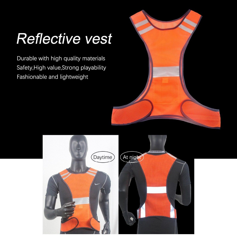 Reflective Vest One Size Adjustable Safety High Visibility Cloths Night Running Riding Security Jacket New Arrival