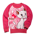 Fashion 2016 hot Kids girls cartoon T shirts/Sweatshirts kids wear clothing cartoon marie new long sleeve T-shirts for baby
