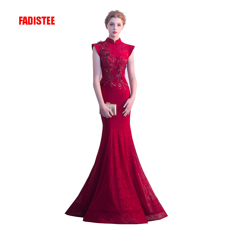 FADISTEE New arrival elegant party dress evening dresses Vestido de Festa  gown lace high neck mermaid 23f4d7cb0b7e