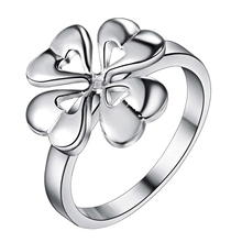 Fashion personality hot selling 2013 new jewelry lot ring four leaf clover ring, finger accept trail & large order