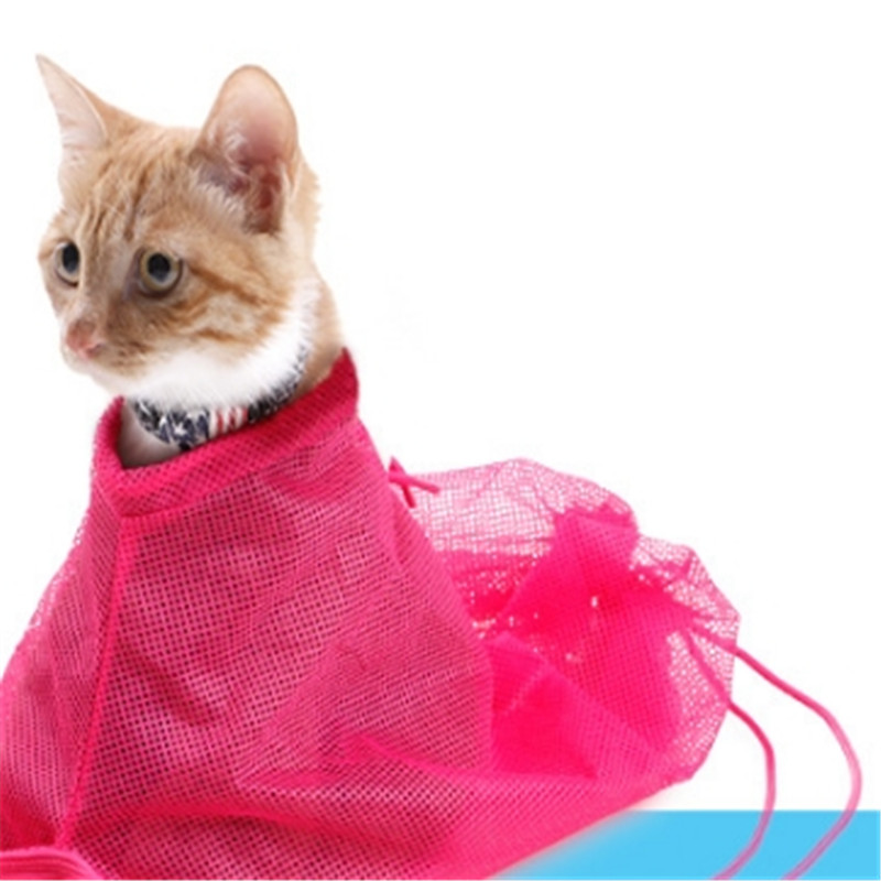 Cats Grooming Mesh Cat Bathing Bag  Washing Bags Cat Bath Clean Bag No Scratching Bite Restraint Cat Supplies Nail Cutting