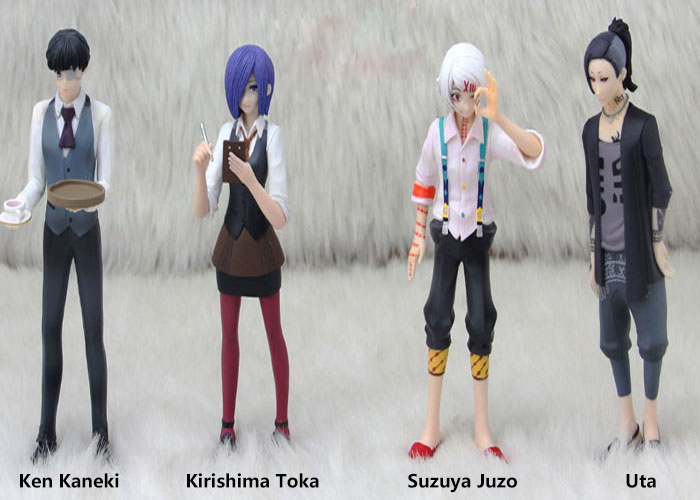 Tokyo Ghoul Cosplay Ken Kaneki Kirishima Toka Suzuya Juzo Uta 15cm/5.9'' Boxed GK Garage Kits Action Figures Toys Model 4Pcs/Set cosplay durotan 22cm 8 7 boxed gk garage kits action figures toys model