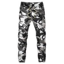 Хлопковые Мужские штаны для бега, Осенние штаны-шаровары,, мужские камуфляжные военные штаны, свободные удобные брюки-карго, камуфляжные штаны для бега