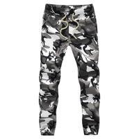 Хлопок Для мужчин с Jogger осень карандашный гаремный брюки 2019 мужские Камуфлированные штаны, милитари брюки свободные удобные брюки-карго Camo ...