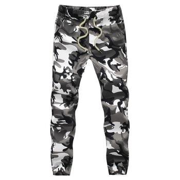 Bawełna mężczyzna Jogger jesień ołówkowe spodnie haremki 2020 mężczyźni spodnie wojskowe moro luźne wygodne spodnie cargo Camo Jogger tanie i dobre opinie HANQIU Spodnie dresowe jogger pants Na co dzień Mieszkanie COTTON Midweight Kieszenie Suknem REGULAR Pełnej długości