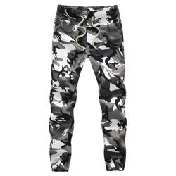 Bawełna mężczyzna Jogger jesień ołówkowe spodnie haremki 2020 mężczyźni spodnie wojskowe moro luźne wygodne spodnie cargo Camo Jogger