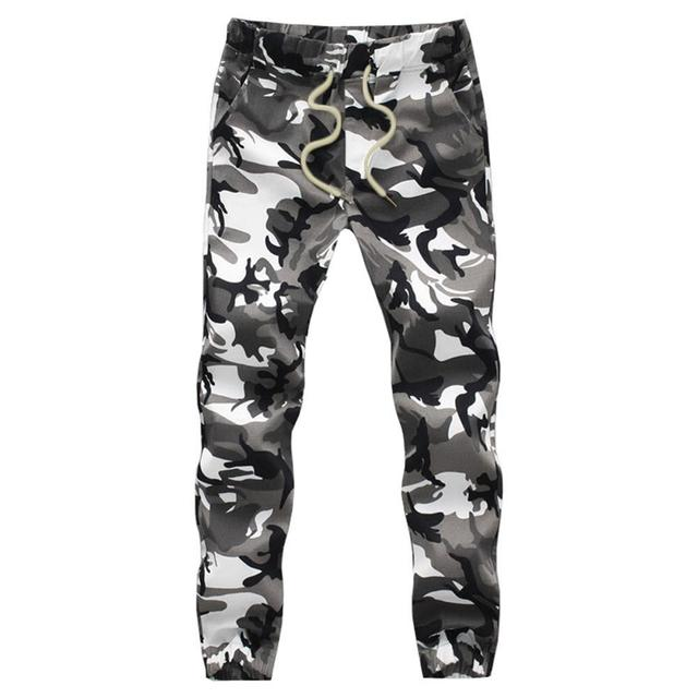Cotton Mens Jogger Autumn Pencil Harem Pants 2020 Men Camouflage Military Pants Loose Comfortable Cargo Trousers Camo Jogger 1