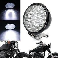 Retro 5 Universal Motorcycle Headlight Front Head Lamp Hi/Lo Beam Fog Light Bulb for Harley Sportster Honda Kawasaki Yamaha