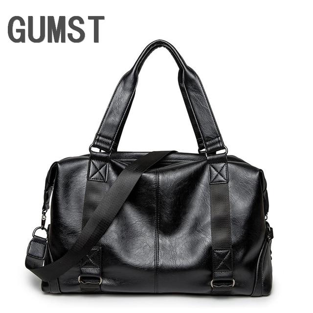 GUMST Men Bags Casual Men Handbags Pu Leather Male Crossbody Bag Men's Travel Messenger Bags Laptop Briefcase for Men