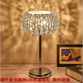 LED crystal lamp / Wedding bedroom desk lamp / light adjustment switch creative simple living room study bed desk lamp