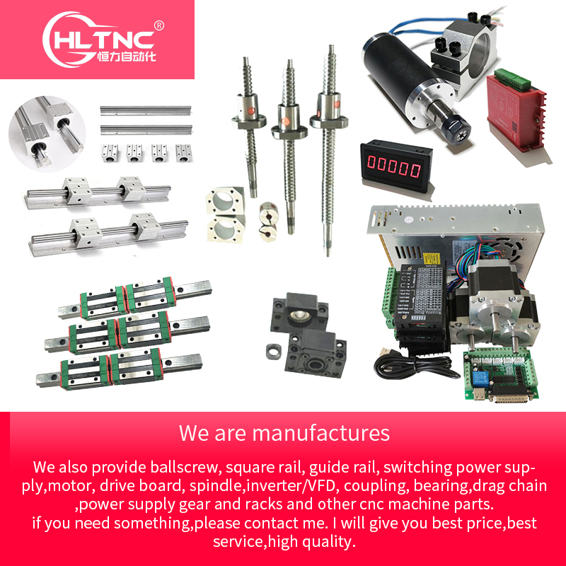 Customized CNC Kit Mgn 12 Sbr10 Sbr12 Sbr16 Sbr20 Hgr15 Hgh20  Linear Guide Rail Rod  Ballscrew T12 Sfu1605 Sfu2005
