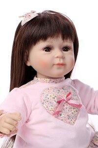 52 см, длинные волосы, силиконовые куклы для новорожденных, куклы для девочек, игрушки для девочек, 20 дюймов, реалистичные виниловые игрушки д...