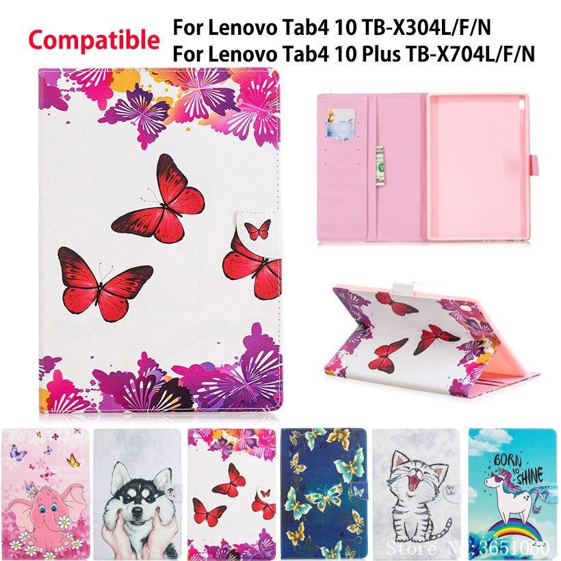 Painted Case For Lenovo TAB4 Tab 4 10 TB-X304L TB-X304F/N Cover For Lenovo Tab 4 10 Plus TB-X704L TB-X704F/N Funda Tablet Shell