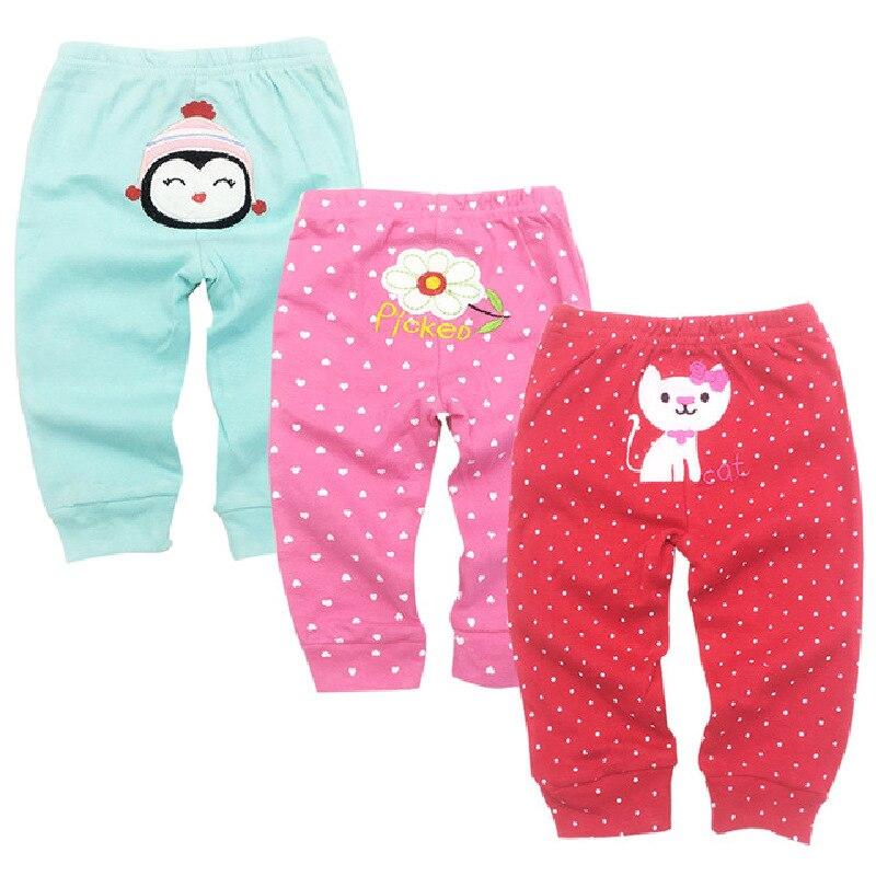 Pantalones Bombachos De Algodon Para Bebe Ropa Infantil 3 Paquetes Primavera 3 6 9 12 18 Y 24 Meses Pantalones Aliexpress