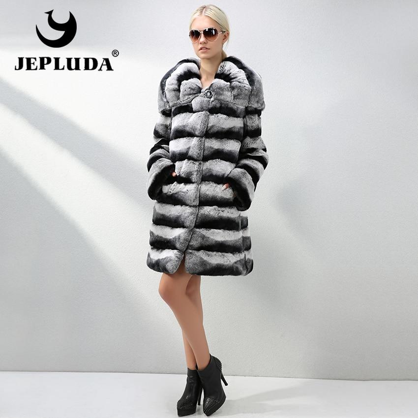 Manteau chinchilla femme