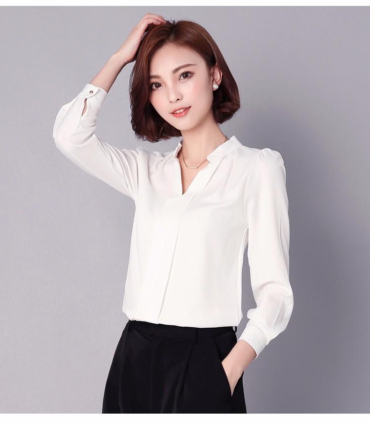 HTB1kDChLpXXXXagXXXXq6xXFXXX0 - Long Sleeve Elegant Ladies Office Shirts Fashion Casual Slim Women
