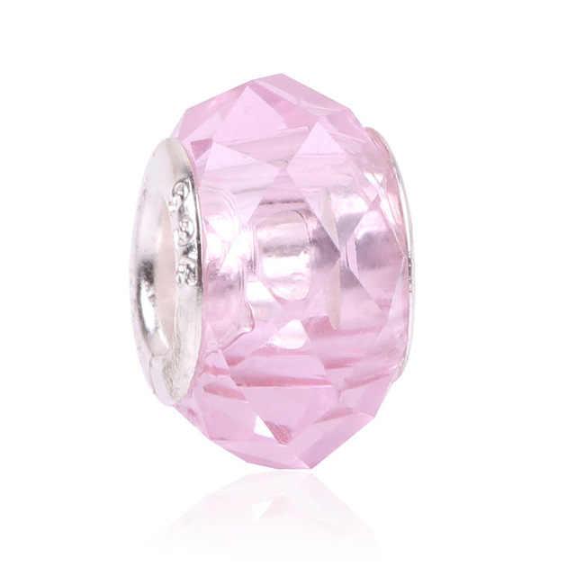Européen 1pc nouveau bleu & rouge & rose murano verre eau bricolage perle Fit Pandora charmes 925 Bracelet pour femmes hommes bijoux à bricoler soi-même EL078
