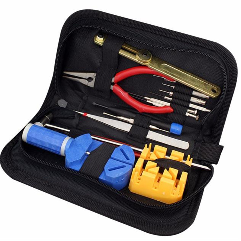 High Quality  Watch Repair Tool Kit Opener Link Remover Spring Bar Band Pin w/ Carrying Case  цены