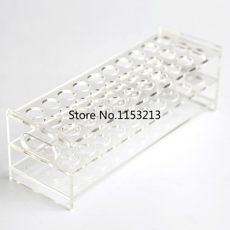 25mm*30-Holes rectangle transparent Plexiglass test tube holder organic glass test tube rack cocktail holder Free shipping sales promotion 1pcs wooden test tube rack 12holes 24pcs glass test tube 24pcs silicone stopper