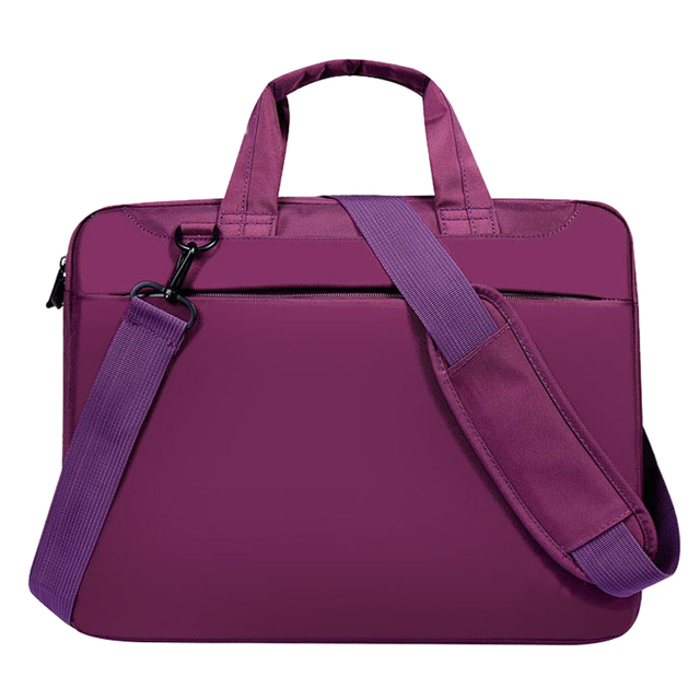 Laptop bag case 12 inch Nylon airbag shoulder handbag computer bags Waterproof Messenger Women men Notebook bag Purple No Airbag