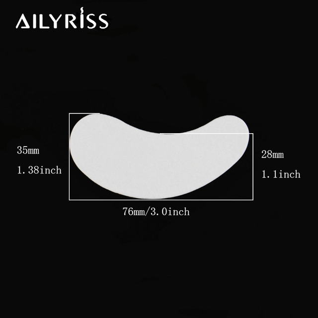 20/50/100 pairs Eyelash Extension Paper Patch Grafted Eye Stickers Eyelash Under Eye Pads Lint Free Hydrating Eye Paper Patches 3