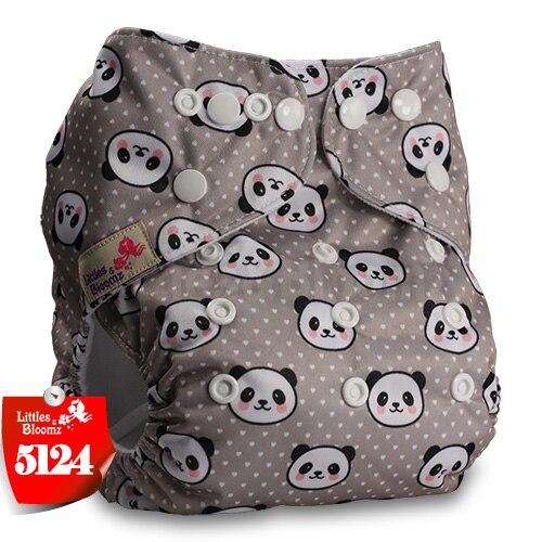 Littles& Bloomz детские моющиеся многоразовые подгузники из настоящей ткани с карманом для подгузников, чехлы для подгузников, костюмы для новорожденных и горшков, один размер, вставки для подгузников - Цвет: 5124