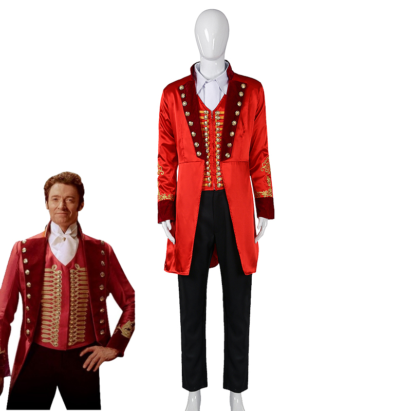 The Greatest Showman P.T. Barnum Cospaly Costume Formal Suit Halloween Carnival Uniforms Full Set For Kids and Adult Custom Made