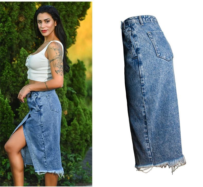 Skirt of female skirt hairline furl furl to wrap hip bull-puncher skirt irregular tassel tall waist skirt of halter MIDI skirt (9)