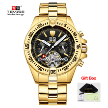 Tevise Tourbillon Automatic Mechanical Watches Top Brand Lux