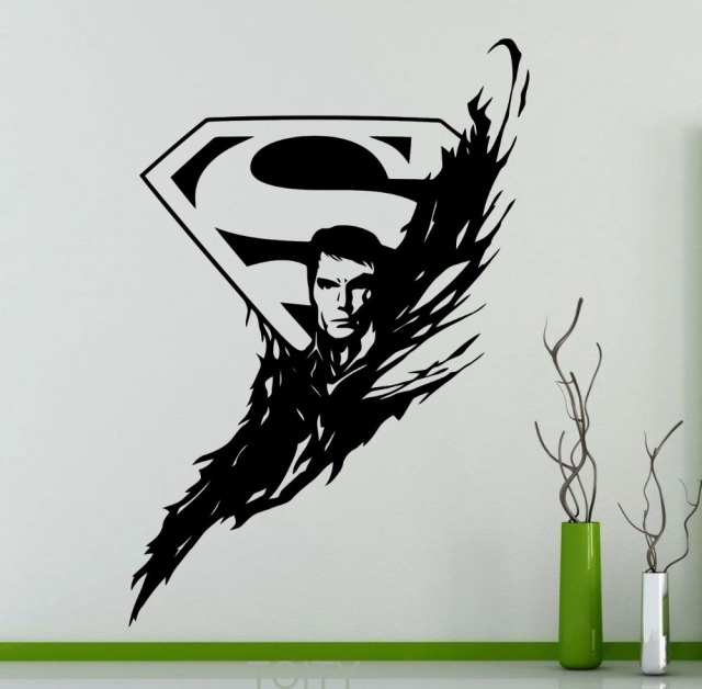Superhero Man Vinyl Sticker DC Marvel Comics Superhero Wall Decal Dorm Home  Interior Decoration Teen Room