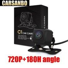 Carsanbo 2019 Новые 180 градусов 720 P HD Широкий формат рыбий глаз заднего вида Обратный Камера Парковка монитор