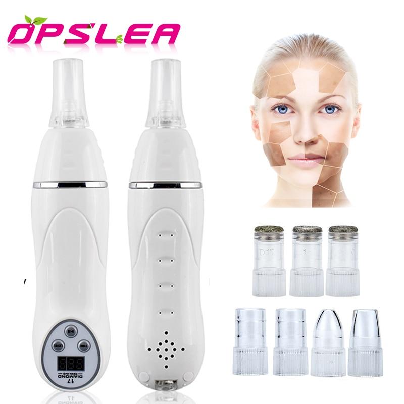 цена на 7 Tips Facial Pore Cleaner Vacuum Blackhead Acne Remover Machine Diamond Micro Dermabrasion Skin Peeling Cleaning Equipment
