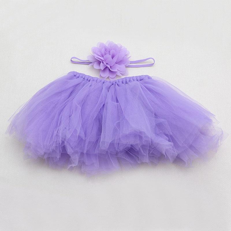 Новинка; Милая юбка-пачка для новорожденных девочек и повязка на голову; костюм для фотосессии; Oct2#330 - Цвет: 2
