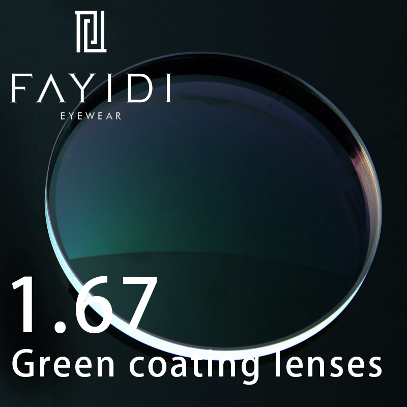 Lentilles de Prescription à indice 1.67 Protection contre les radiations myopie Anti-UV hyperopie lentilles asphériques à revêtement optique HMC transparent