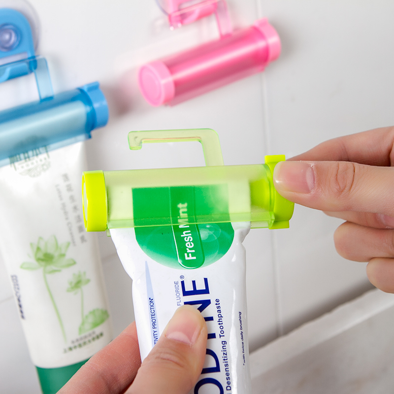 Image 3 - 1pcs Random Color Rolling Tube Toothpaste Squeezer Suction Cleanser Easy Dispenser Sucker Hanging Bathroom Toothpaste Squeezer-in Toothpaste Squeezers from Home & Garden