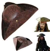 Pirates of the Caribbean Hat Adult Leather Jack pirate hat Free Shipping