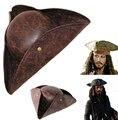 Piratas do caribe chapéu de couro chapéu de pirata frete grátis