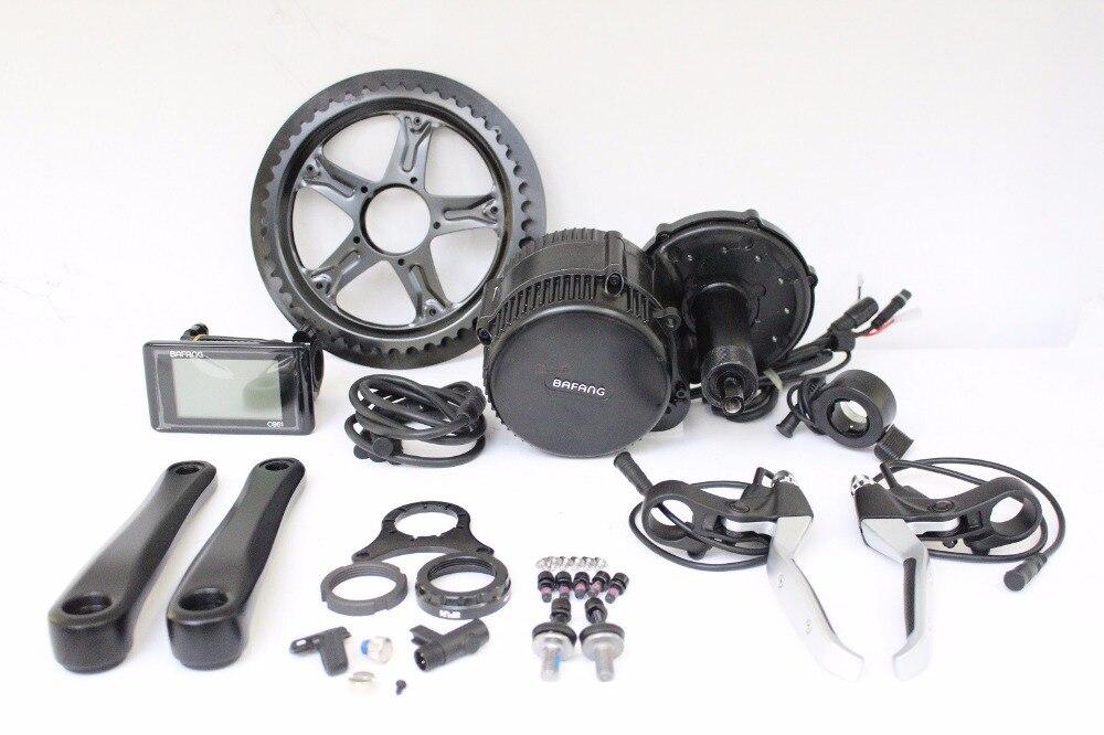 5ed75c8eae7 Bafang 48V 750W BBS02 Ebike Mid-Drive Crank Motor Conversion Kits  Integrated Controller LCD BB68
