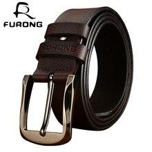 fa23ae1b0d1d FURONG Top ceinture en cuir Hommes 2018 nouveauté Hommes Vintage ceinture  en cuir s Mâle ceinture en cuir de vache qualité supér.