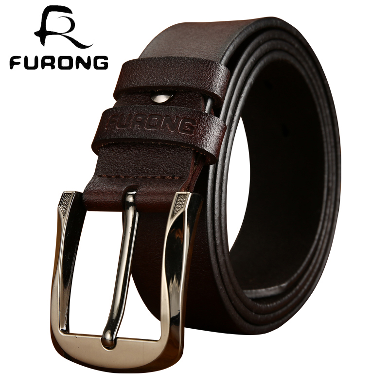 FURONG Top Leather Belt Men