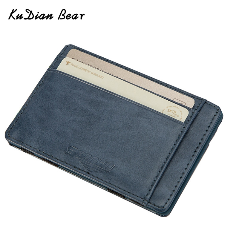 KUDIAN BEAR Leather Wallets Men Magic Wallets Designer Purse Rfid Credit Card Holder Brand Carteira Masculina-- BID142 PM49 hongnor ofna x3e rtr 1 8 scale rc dune buggy cars electric off road w tenshock motor free shipping