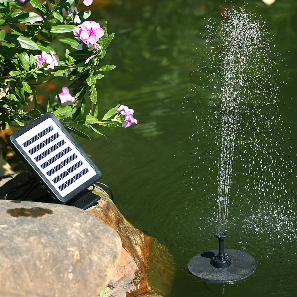 Solar Panel Water Fountain Solar Pump for Garden Solar Panel Submersible Brushless Water Pump Kit with