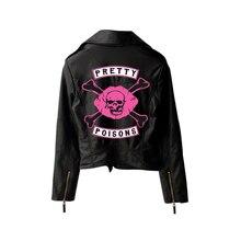 Riverdale PU Printed Logo Southside Riverdale Serpents Jackets Women Riverdale Serpents Streetwear Leather Jacket Custom