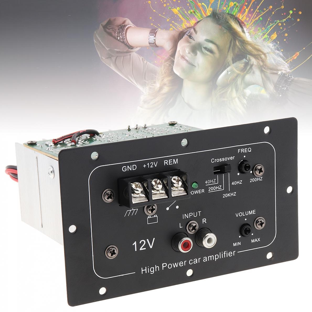 150W 12V Preto Poderoso Bass Subwoofer Placa Amplificador de Alta Potência de Áudio Do Carro para 6/8/10 polegada Subwoofer Carro