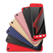 For VIVO Y67 360 Degree Full Protection Hard Case For VIVO V5 Back Cover shockproof case For VIVO Y 67 Full case + glass 5.5'' цена и фото