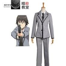 2017 Free Shipping Assassination Classroom Kunugigaoka Junior High School Class 3-E Boy's School Kids Uniform Cosplay Costume