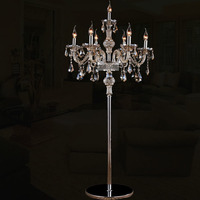 European retro luxury candle crystal floor lamp modern fashion living room bedroom bracket glass floor lamp ZP509939