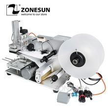 ZONESUN LT 60 חצי אוטומטי פנאומטי שטוח תיוג מכונת תרופות בקבוק תיוג מכונת מקל סימן מכונה תיוג