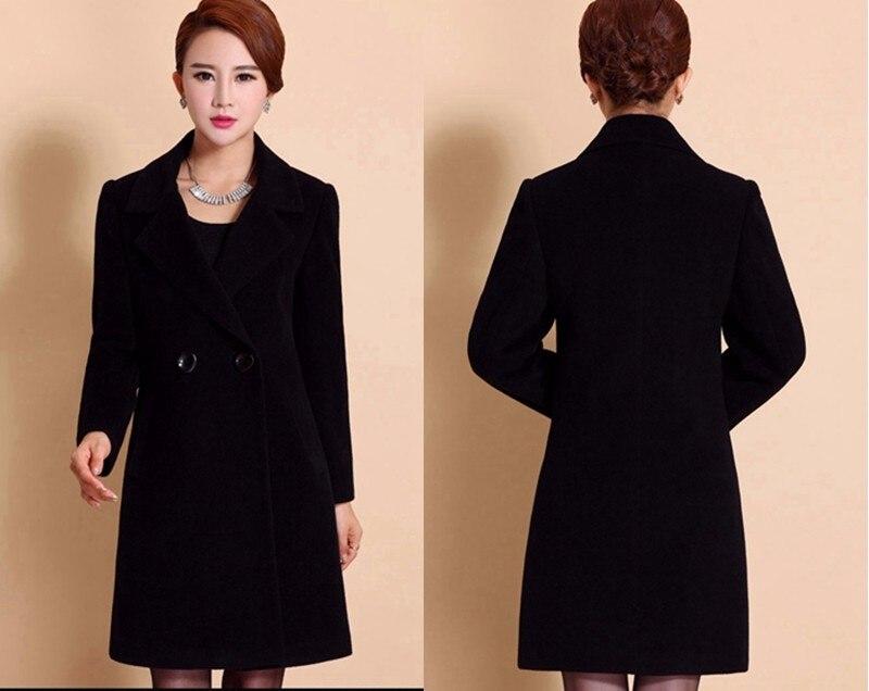 Wool Coat Female Fashion Women Woolen Coats High-end Elegant Long Slim Winter Jacket Royal Coats&Jackets Plus Size Femininos 4XL 15